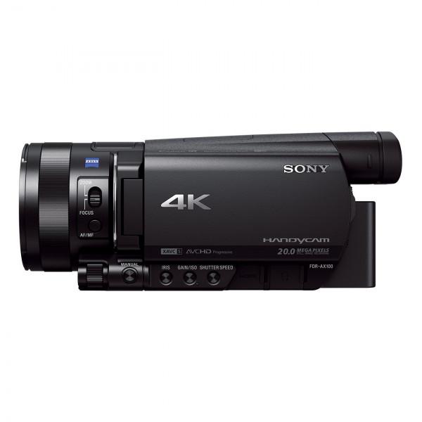Sony FDR-AX100E 4K Ultra-HD-Camcorder (8,9 cm (3,5 Zoll) Display, 24p/25p/50p/50i Full-HD-Aufnahmen (4K in 24p/25p), eingebauter ND-Filter) schwarz-324