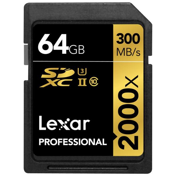 Lexar Professional 64GB 2000x Speed SDXC UHS-II Speicherkarte mit Kartenlesegerät-35