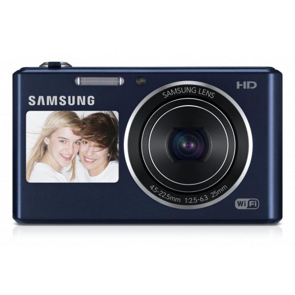 Samsung DV150F Smart-Digitalkamera (16,2 Megapixel, 5-fach opt. Zoom, 6,9 cm (2,7 Zoll) LCD-Display, bildstabilisiert, DualView, WiFi) kobalt schwarz-310