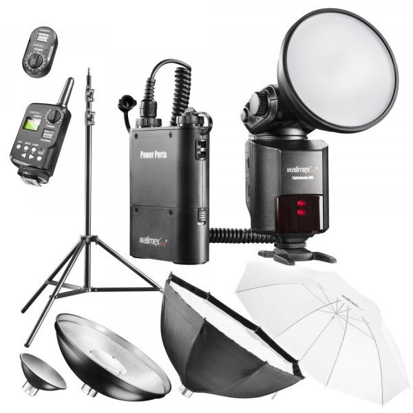 Walimex Pro Light Shooter 360 Portables Studio Set (Funkauslöser, Stativ, Softbox, Beauty Dish, Durchlichtschirm)-37