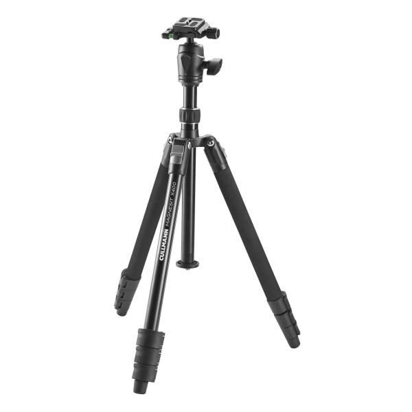 Cullmann MAGNESIT X400 Stativ inkl. Kugelkopf (3 Auszüge, Gewicht: 1,5 kg, Tragfähigkeit: 4 kg, Höhe: 145 cm, Packmaß: 42 cm)-312