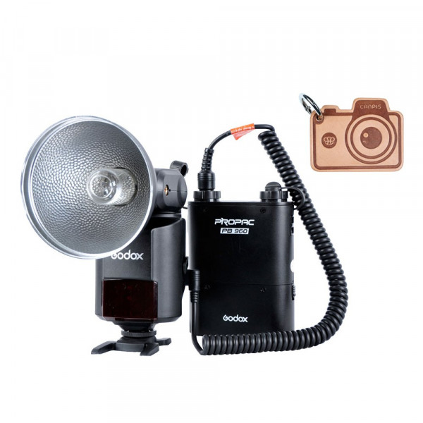 Godox WITSTRO ad-360 Bare Tube Flash Speedlite + PB960 Akku Power Pack-310