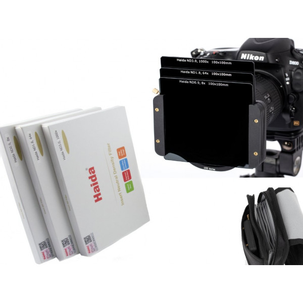 Haida Optical Neutral 3er Graufilter Set 100 mm x 100 mm ND0.9 (8x) / ND1.8 (64x) / ND3.0 (1000x) Inkl. Haida Filtertasche Kompatibel mit Z Pro und SW100 Halter-39