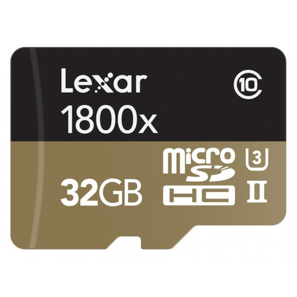 Lexar Professional 1800x microSDHC 32GB UHS-II W/USB 3.0 Reader Flash Memory Card LSDMI32GCRBEU1800R-36