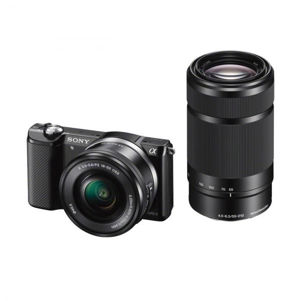 Sony Alpha 5000 Systemkamera (Full HD, 20 Megapixel, Exmor APS-C HD CMOS Sensor, 7,6 cm (3 Zoll) Schwenkdisplay) schwarz inkl. SEL-P1650 and SEL-55210 Objektiv-319
