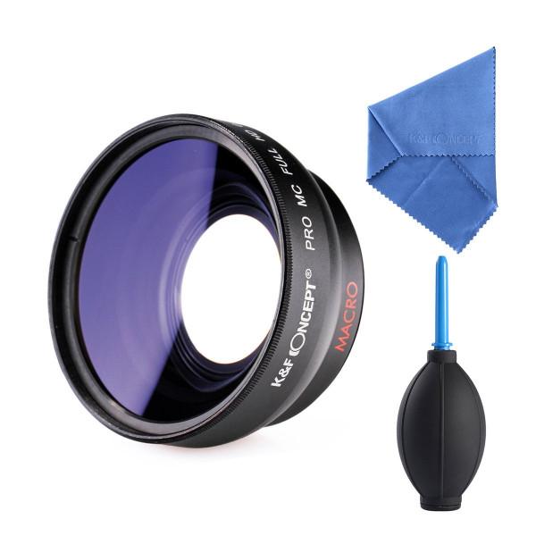 KandF Concept 58mm Super Weitwinkelobjektiv 0.45x Professionell HD-310
