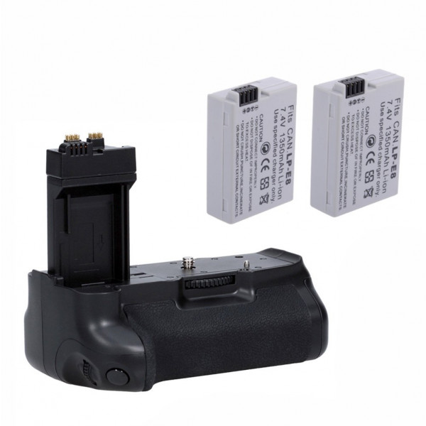 Neewer® Pro Batteriegriff Akkugriff Battery Grip für Canon EOS 550D 600D 650D 700D/ Rebel T2i T3i T4i T5i SLR Digitale Kameras, Set beinhaltet:1x BG-E8 Batterie Griff + 2x LP-E8 Li-Ion Akku-38