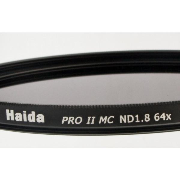 Haida PRO II Serie MC (mehrschichtvergütet) Neutral Graufilter ND64 77mm Inkl. Cap mit Innengriff-36