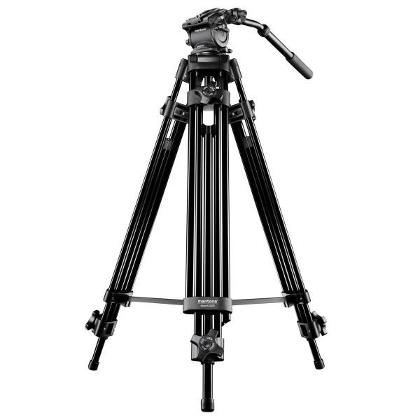 Mantona Dolomit 1100 Videostativ 133 cm (inkl. Fluid-Neiger, Wasserwaage, Schnellwechselplatte) für DSLR und Videokamera-35