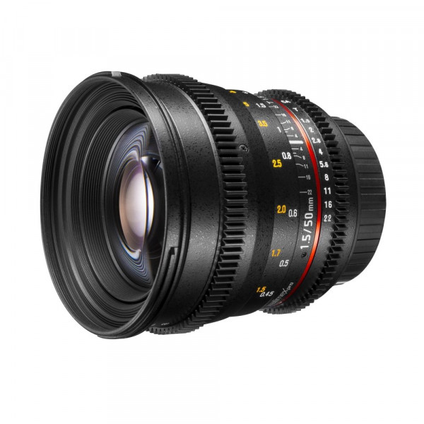 Walimex Pro 50 mm 1:1,5 VDSLR Video/Foto Objektiv für Sony E-Mount Objektivbajonett (Filtergewinde 77 mm, Zahnkranz, stufenlose Blende, Fokus, IF) schwarz-34