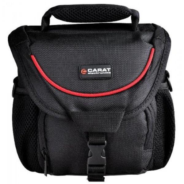 Carat Tough Bag Umhängetasche Medium mit Sniper Taschen-Tragegurt und Regenhüller für SLR und Systemkameras-37