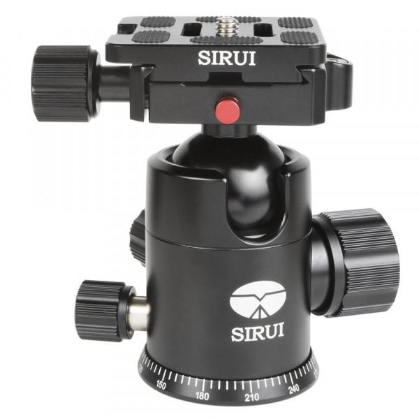 SIRUI G-20X Stativkugelkopf (Alu, Höhe: 98mm, Gewicht: 0.36kg, Belastbarkeit: 20kg) schwarz mit Wechselplatte TY-50X-35