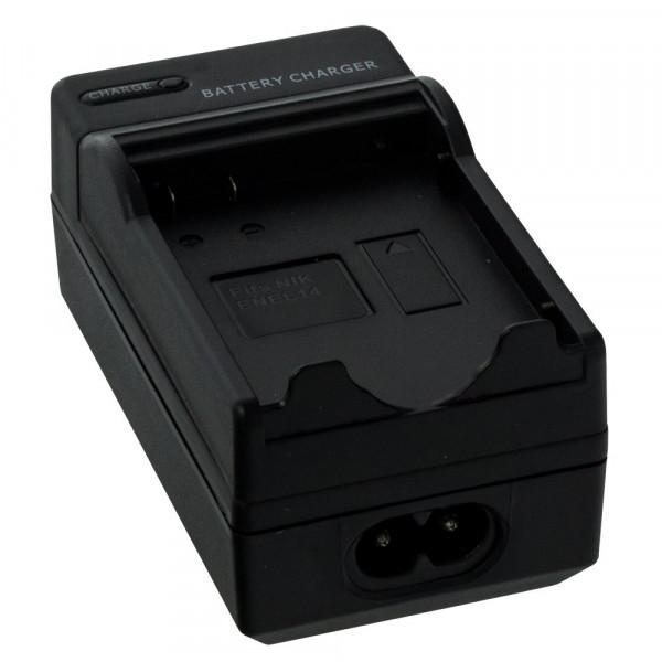 Smartfox Kameraakku Ladegerät für Nikon D3100 D3200 D5100 / P7000 P7100 P7700 / ENEL14 / Passend für Originalakku Bezeichnung: MH-24-31