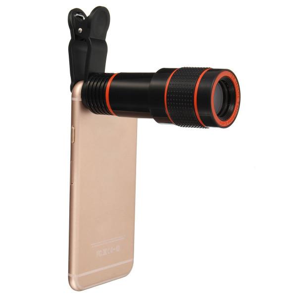 Optik Zoom Kameraobjektiv, Hizek 12x Universelles Optik Zoom Lens Teleskop Kamera Linse für Iphone 6s/6/6 Plus/6s Plus / 5s , Samsung Galaxy S6 / S6 edge/S5, Note 5 /4-36