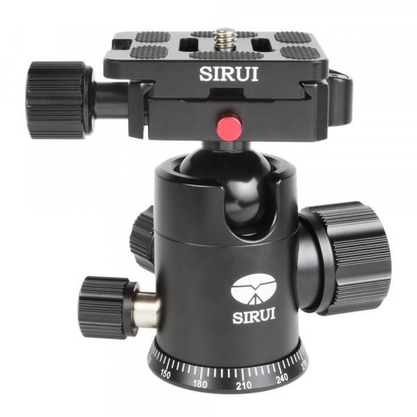 SIRUI G-10X Stativkugelkopf (Alu, Höhe: 88mm, Gewicht: 0.3kg, Belastbarkeit: 18kg) schwarz mit Wechselplatte TY-50X-35