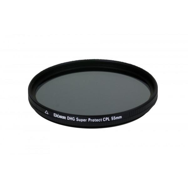 Dörr DHG Super Zirkular Polfilter 55 mm mit Nano-Vergütung/beidseitige DHG 12-fach Mehrschichtvergütung/extrem flache Filterfassung-35