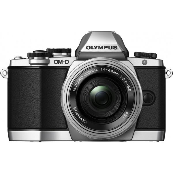 Olympus OM-D E-M10 Systemkamera (16 Megapixel, Live MOS Sensor, True Pic VII Prozessor, 3-Achsen VCM Bildstabilisator, Sucher, Full-HD, HDR) Kit inkl. 14-42mm Objektiv (elektr. Zoom) silber-320