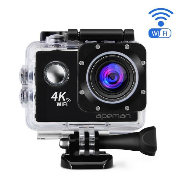 APEMAN Action Kamera A80 WIFI 20MP Ultra Full HD 4K Sports Action Cam wasserdicht mit 2 verbesserten Batterien und kostenlose Accessoires-39