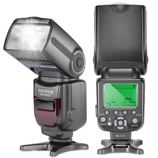 Neewer® NW-565 EXC E-TTL-Slave Speedlite Flash Blitzgerät Blitzlicht mit Blitz-Diffusor für Canon 5D II 7D, 30D, 40D, 50D, EOS 300D / EOS Digital Rebel, EOS 350D / EOS Kiss Digital-N, EOS 400D / Digital Rebel Xti, EOS 1000D / EOS Rebel XS, EOS 500D / Digi-38