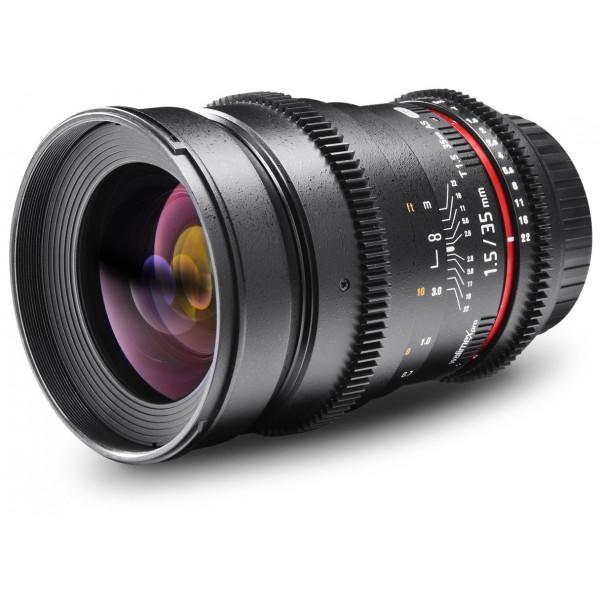 Walimex Pro 35mm 1:1,5 VDSLR Foto und Videoobjektiv (Filtergewinde 77mm) für Olympus Four Thirds Objektivbajonett schwarz-36