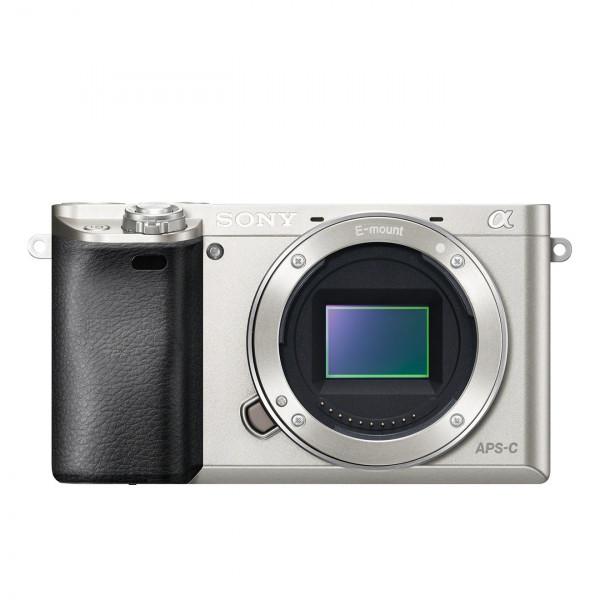 "Sony Alpha 6000 Systemkamera (24 Megapixel, 7,6 cm (3"") LCD-Display, Exmor APS-C Sensor, Full-HD, High Speed Hybrid AF) silber-323"
