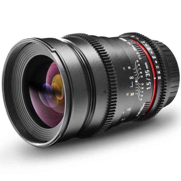 Walimex Pro VDSLR 35mm 1:1,5 Foto und Videoobjektiv (Filtergewinde 77mm) für Nikon F Objektivbajonett schwarz-36