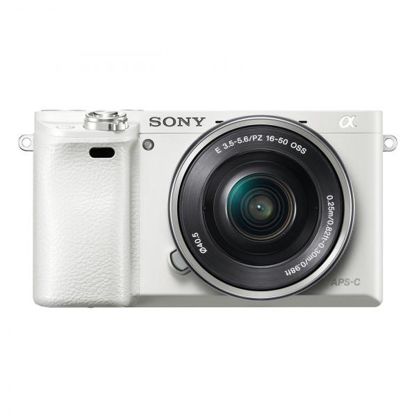 "Sony Alpha 6000 Systemkamera (24 Megapixel, 7,6 cm (3"") LCD-Display, Exmor APS-C Sensor, Full-HD, High Speed Hybrid AF) inkl. SEL-P1650 Objektiv weiss-324"