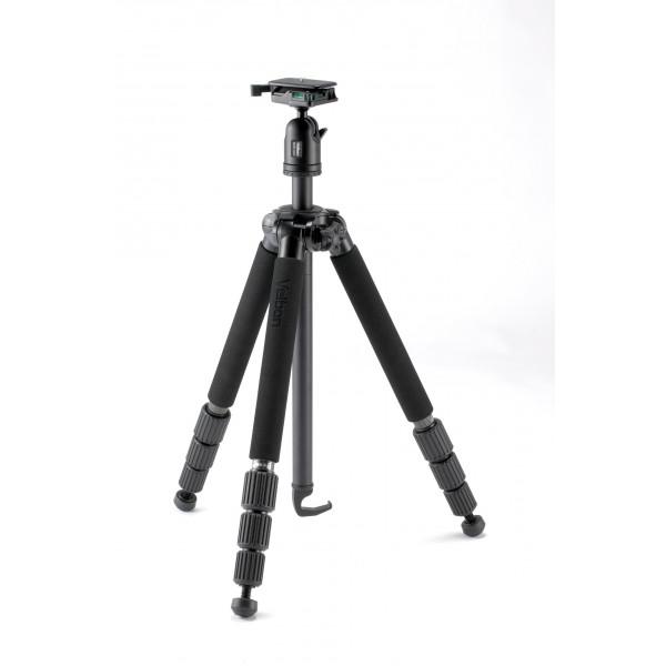 Velbon Geo-Series N543D Karbon Dreibein-Stativ inkl. QHD-53D Kopf (Höhe 168,3 cm, Belastbarkeit 3 kg)-31