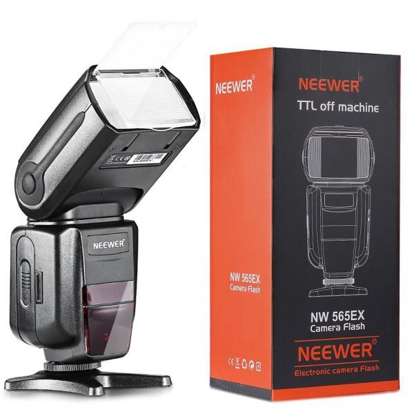 Neewer 10079838 NW-565 EXN I-TTL Slave Speedlite Flash Bounce Diffuser für Nikon-37