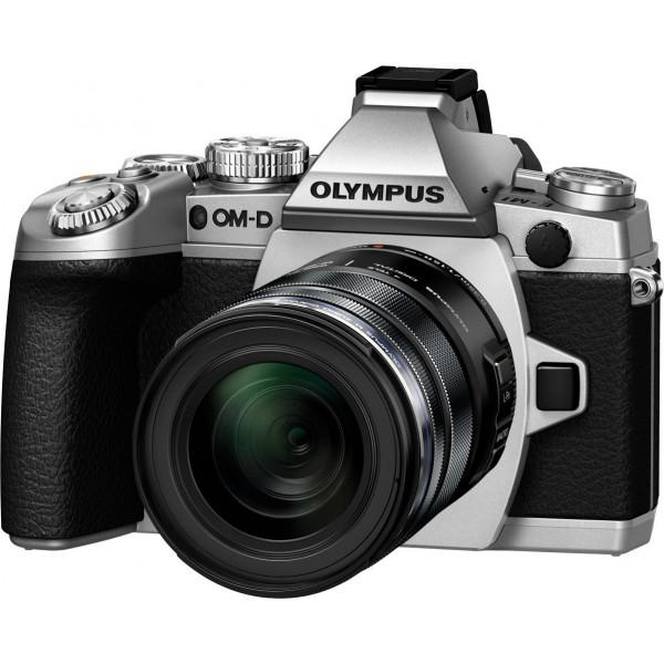 Olympus E-M1 OM-D Systemkamera (16 Megapixel, 7,6 cm (3 Zoll) TFT LCD-Display, Full HD, HDR, 5-Achsen Bildstabilisator) inkl. M.Zuiko Digital ED 12-50mm Objektiv Kit silber-34