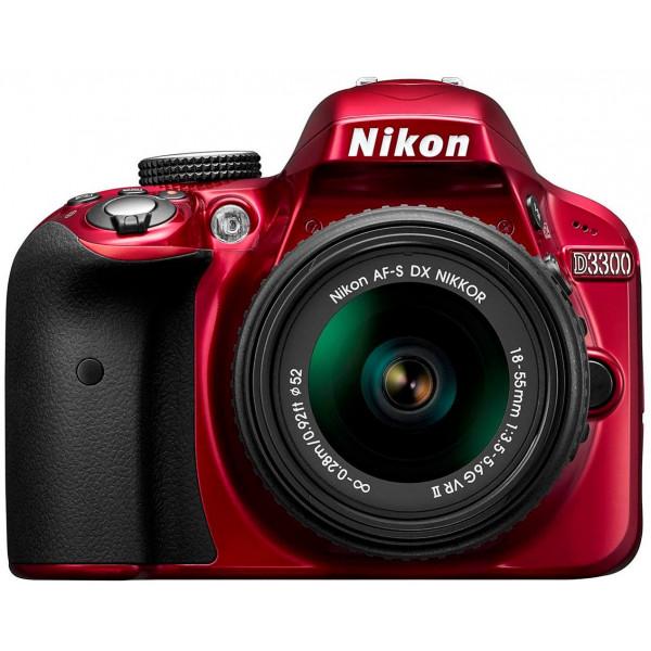 Nikon D3300 SLR-Digitalkamera Kit (24 Megapixel, 7,6 cm (3 Zoll) TFT-LCD-Display, Live View, Full-HD) inkl. AF-S DX 18-55 VR II Objektiv rot-33