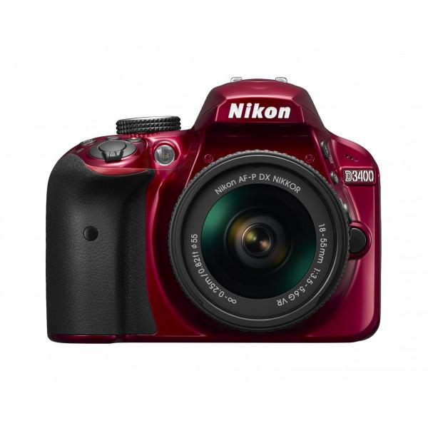 Nikon D3400 Kit rot + AF-P 18-55 VR-34