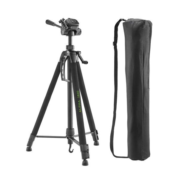 Cullmann ALPHA 3800 Dreibeinstativ mit Kurbelsäule, 3-Wege-Kopf und Kameraschnellkupplungs-System schwarz-39