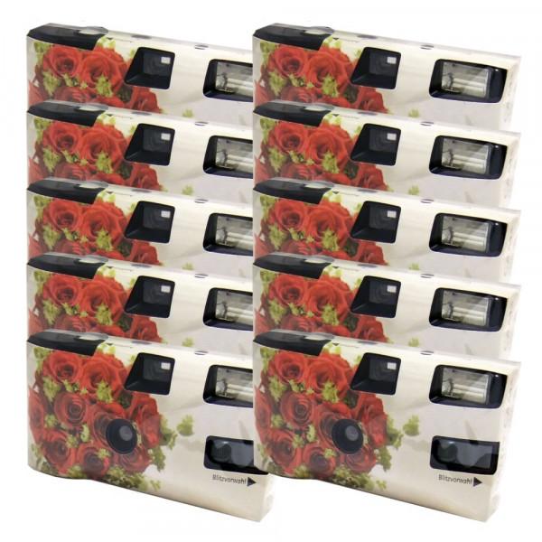 Einwegkamera / Hochzeitskamera Rote Rosen (27 Fotos, Blitz, 10-er Pack)-35
