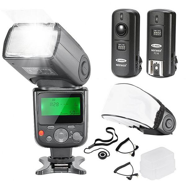 Neewer® PRO NW670 E-TTL Flash Blitz Blitzgerät Set für Canon EOS 700D 650D 600D 1100D 550D 500D 450D 400D 100D 300D 60D 70D DSLR-Kameras, Rebel T3 T5i T4i T3i T2i T1i XSi XTi SL1, Canon EOS M Kompaktkameras Kamera beinhaltet: Neewer Auto-Fokus Blitz mi-38