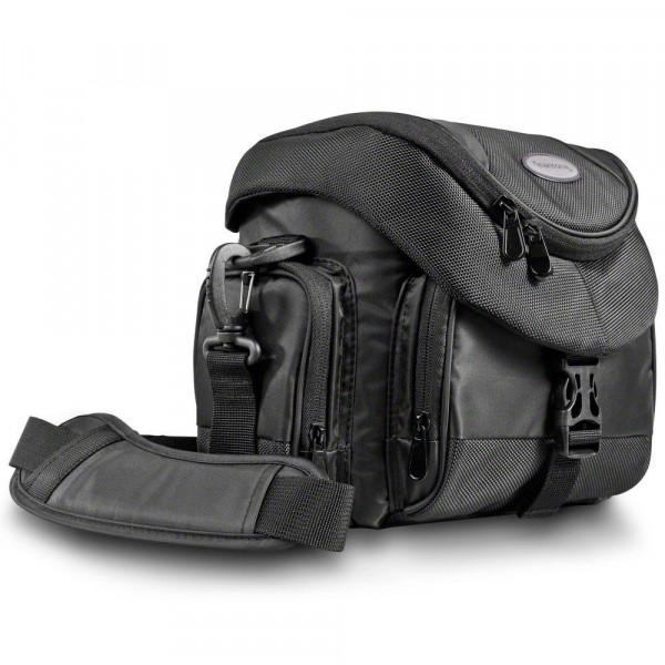Mantona Premium DSLR-Kameratasche (inkl. Schnellzugriff, Staubschutz, gepolsteter Tragegurt und Zubehörfach) schwarz-38