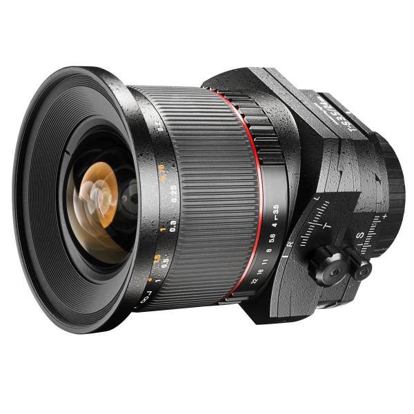 Walimex Pro 24 mm 1:3,5 DSLR Tilt-Shift Objektiv (Filtergewinde 82 mm) für Nikon F Objektivbajonett schwarz-39