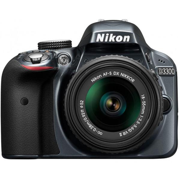 Nikon D3300 SLR-Digitalkamera Kit (24 Megapixel, 7,6 cm (3 Zoll) TFT-LCD-Display, Live View, Full-HD) inkl. AF-S DX 18-55 VR II Objektiv anthrazit-33