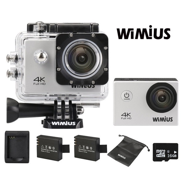 WiMiUS Action Cam 4k Wifi Sport Kamera Action Actioncam 1080P 16MP Wasserdicht Helmkamera mit 16GB Karte, 2 Akkus, 1 Tasche, 1 Externes Ladegerät-38