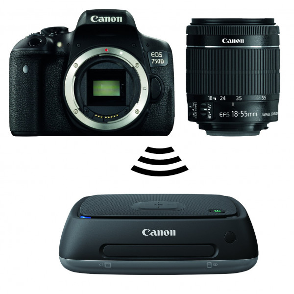 Canon EOS 750D mit EF-S (18-55mm) IS STM plus Connect Station CS100-36