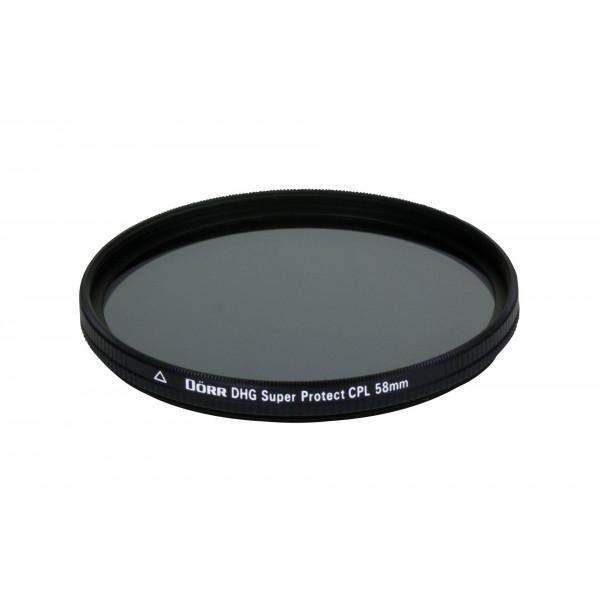 Dörr DHG Super Zirkular Polfilter 58 mm mit Nano-Vergütung/beidseitige DHG 12-fach Mehrschichtvergütung/extrem flache Filterfassung-35