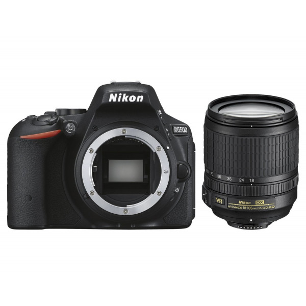 Nikon D5500 SLR-Digitalkamera (24,2 Megapixel, 8,1 cm (3,2 Zoll) Touchscreen-Display, 39 AF-Messfelder, ISO 100-25.600, Full-HD-Video, Wi-Fi, HDMI) Kit inkl. DX 18-105 mm VR Objektiv schwarz-313