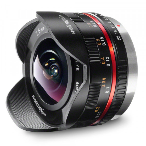 Walimex Pro 7,5 mm 1:3,5 CSC Fish-Eye-Objektiv für Micro Four Thirds Objektivbajonett schwarz-36