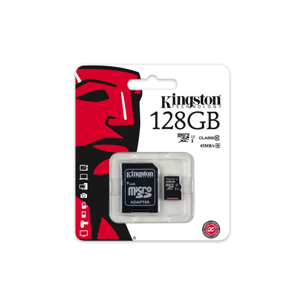 Kingston SDCA3/128GB microSDHC/SDXC 128GB Speicherkarte mit Adapter (UHS-I U3, 90R/80W)-34