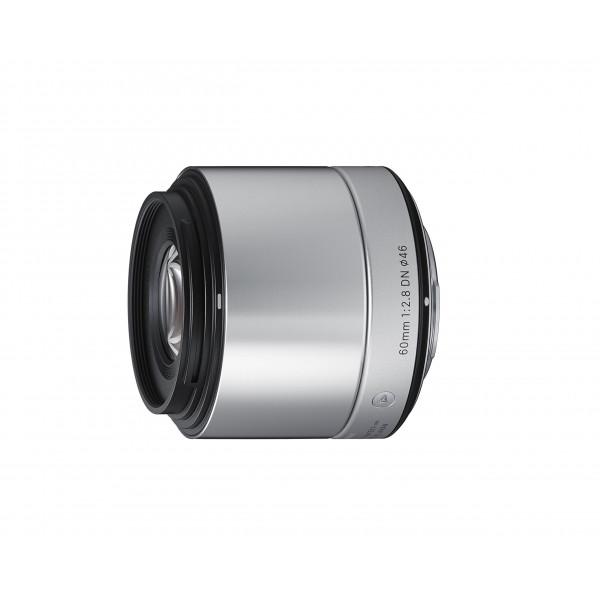 Sigma 60mm f2,8 DN Objektiv (Filtergewinde 46mm) für Sony-E Objektivbajonett silber-34