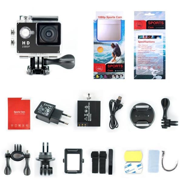 """Yuntab Full HD 1080p kamera Action Kamera Wasserdicht 2.0"""" LCD 120° Objektiv DVR Outdoor Action Camera Sport Kamera Tauchen und Kostenlosen Zubehör Kits (Schwarz, A9 mit Ladegerät)-38"""