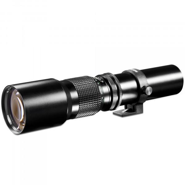 Walimex 500mm 1:8,0 DSLR-Objektiv (Filtergewinde 67mm, Teleobjektiv, Linsenobjektiv) für T2 Bajonett schwarz-37