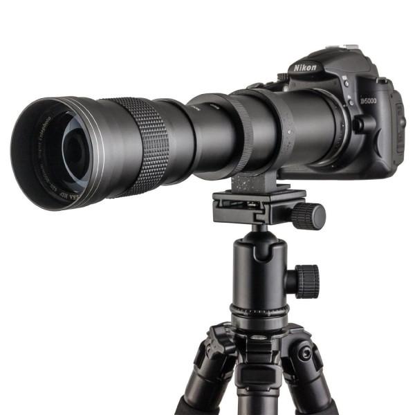 TOP-MAX® 420-800mm f/8.3-16 Super Tele Zoom Objektiv Teleobjektiv Zoomobjektiv Vario-Objektiv Lens für Canon EOS 1D, 5D, 6D, 7D, 10D, 20D, 30D, 40D, 50D, 60D, 100D, 300D, 350D, 400D, 450D, 500D, 550D, 600D, 700D, 1000D, 1100D, 1200D und mehr DSLR/SLR Kame-39