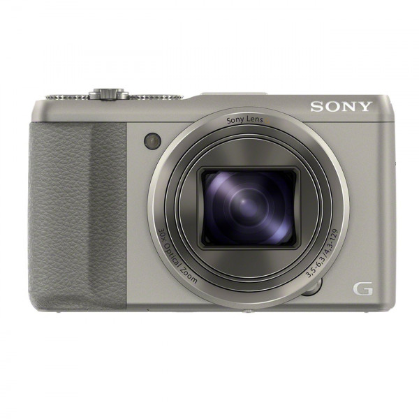 Sony DSC-HX50 Digitalkamera (20,4 Megapixel, 30-fach opt. Zoom, 7,6 cm (3 Zoll) LCD-Display, Full HD, WiFi) inkl. 24mm Sony G Weitwinkelobjektiv silber-313