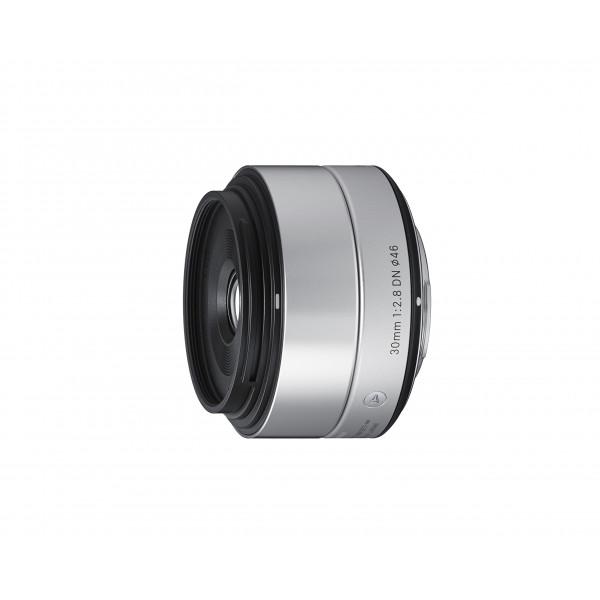 Sigma 30mm f2,8 DN Objektiv (Filtergewinde 46mm) für Micro Four Thirds Objektivbajonett silber-34